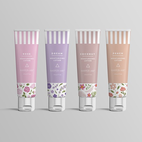 Lotion tube packaging