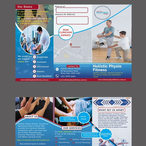 brochure design for holistic physio fitness