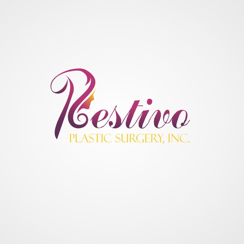 concept of femininity and beauty logo