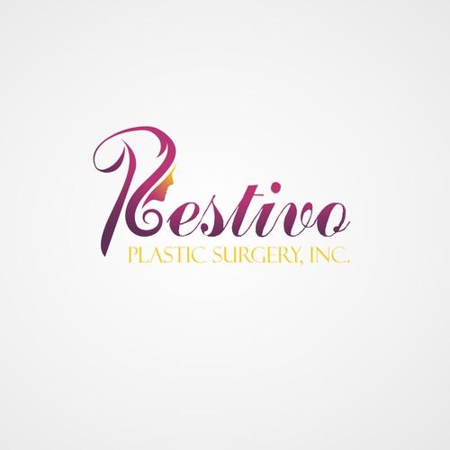 concept of femininity and beauty logo