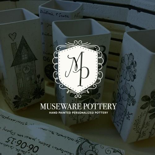 Logo for handmade gift pottery