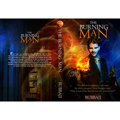 Create an eye catching proffessional cover for a modern day sci-fi/fantasy book!