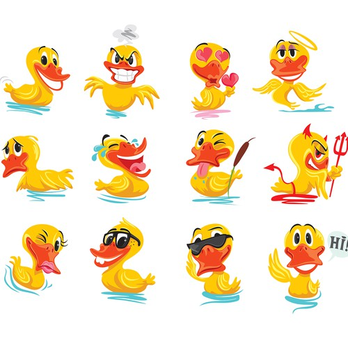 Rubber ducky Emoji/Sticker Pack