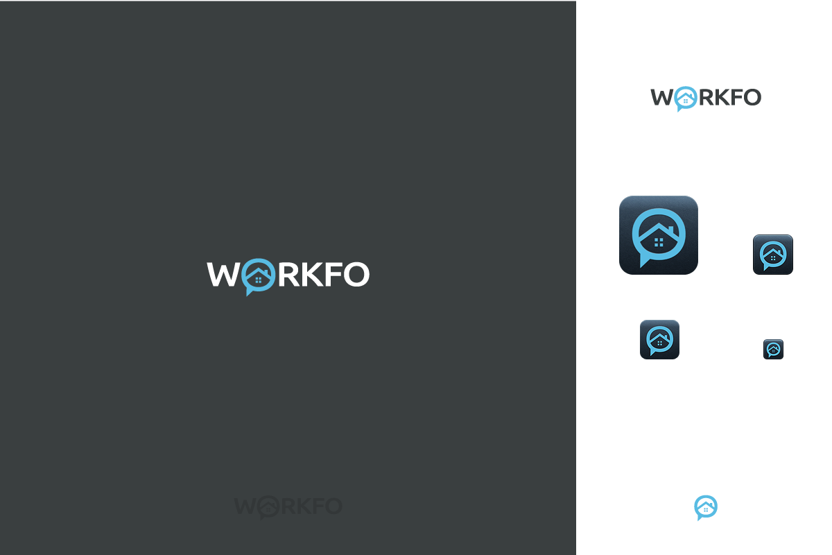 Create an awesome text logo for Workfo!