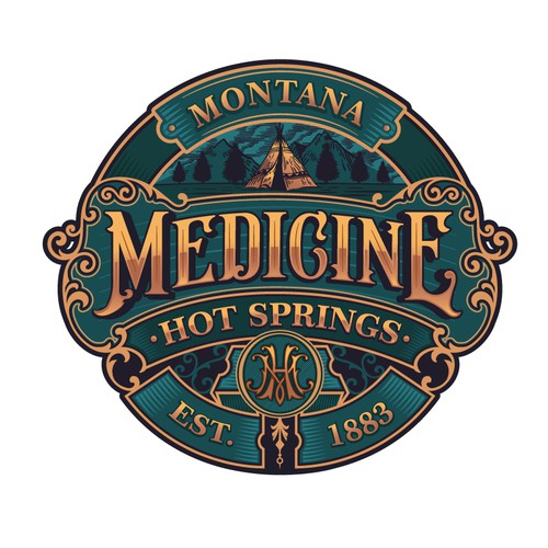 Medicine Hot Springs Logo