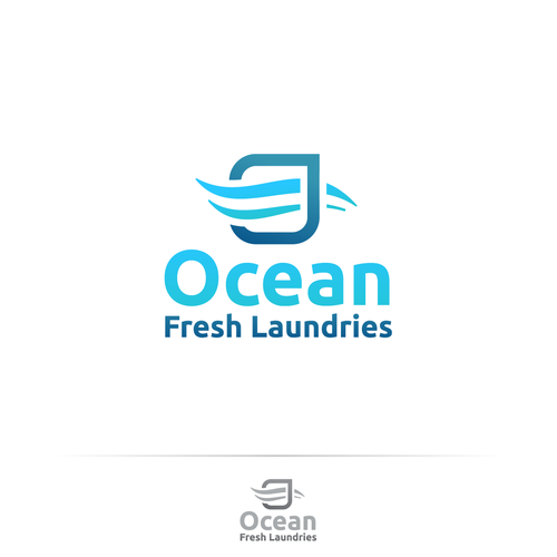 Ocean Fresh Laundries Logo