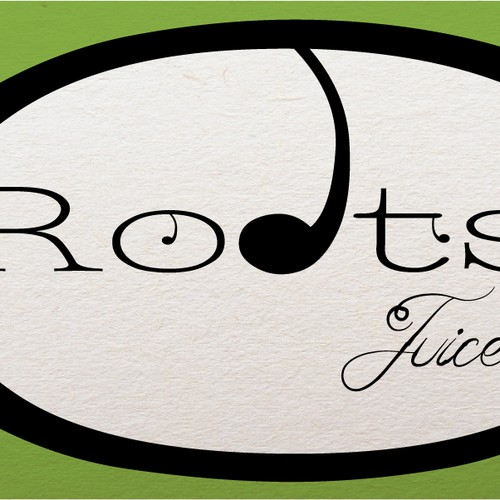 Create an organic design for Roots Juice.