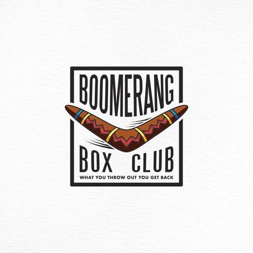 Bold boomerang logo