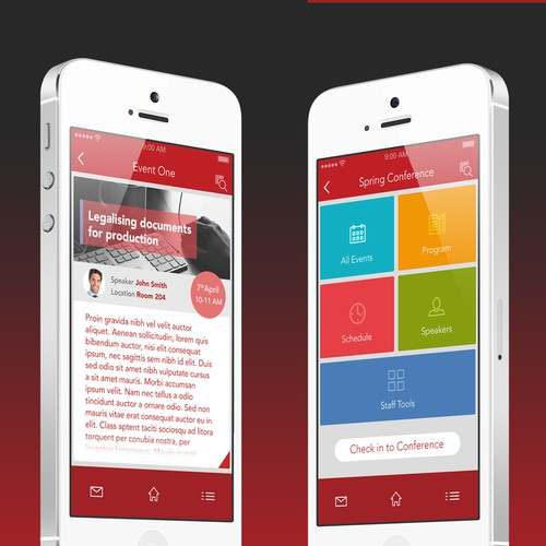 BC Notaries Members Mobile App design