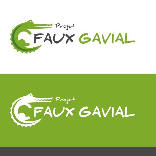 Create crocodile design for an environmental education initiative in Gabon