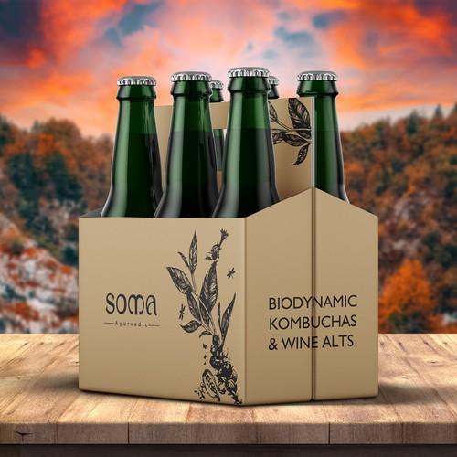 Biodynamic Kombuchas & Wine Bottle Pack