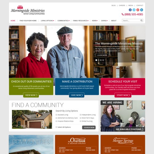 Website Design For Retirement Community With 3 Locations