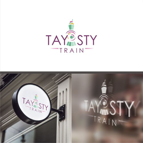 Logo concept for taysty train
