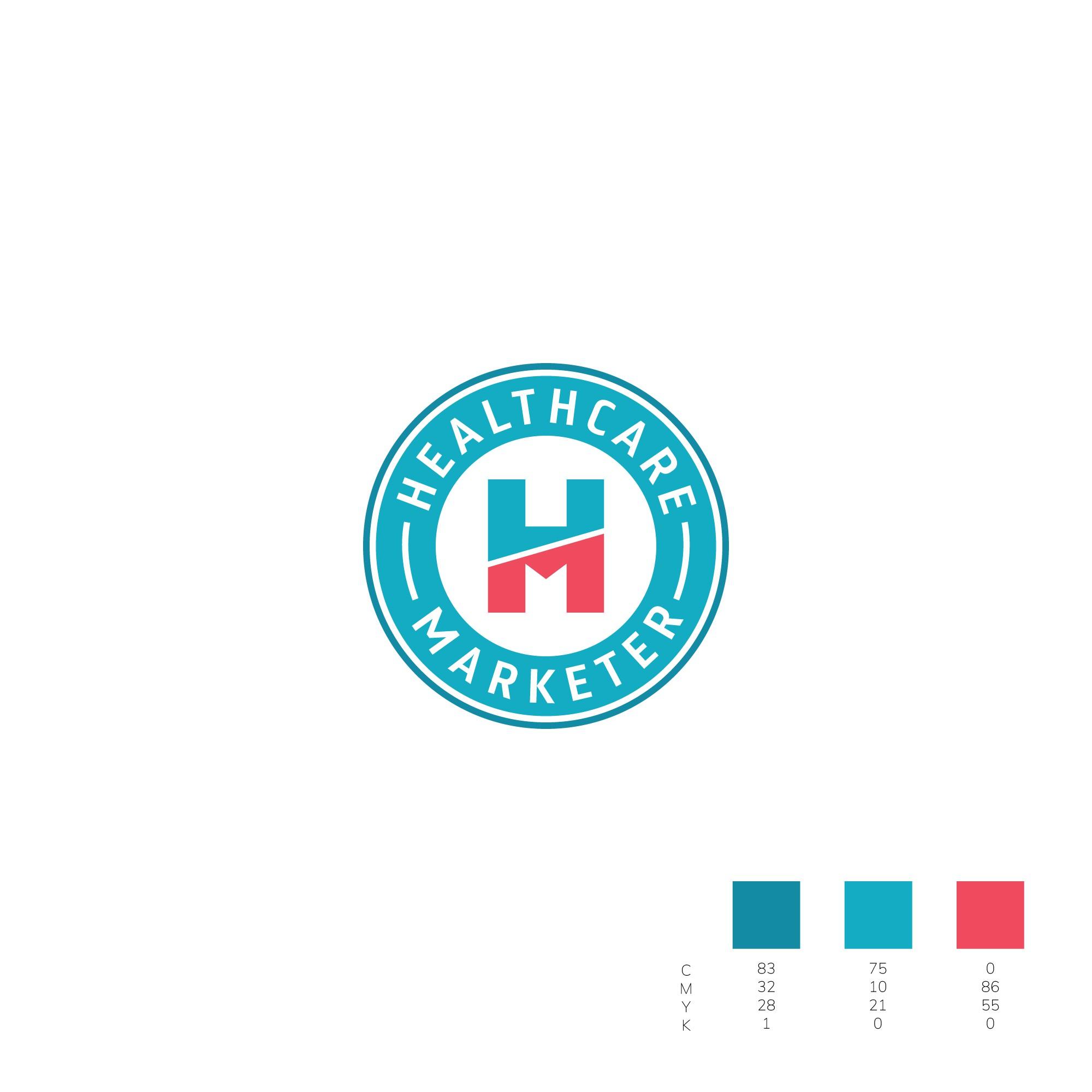 Badge-Based Healthcare Marketer Logo Design