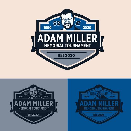 Emblem Bold Logo Adam Miller Memorial Tour