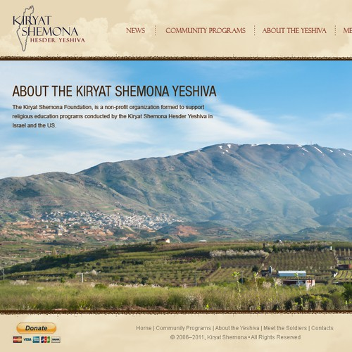 Help Kiryat Shemona Foundation with a new website design