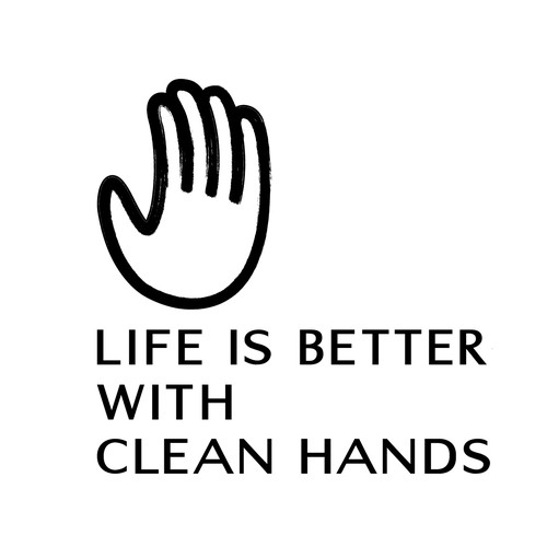 Life is Better with Clean Hands Logo