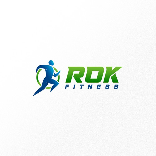 Dynamic logo for ROK fitness