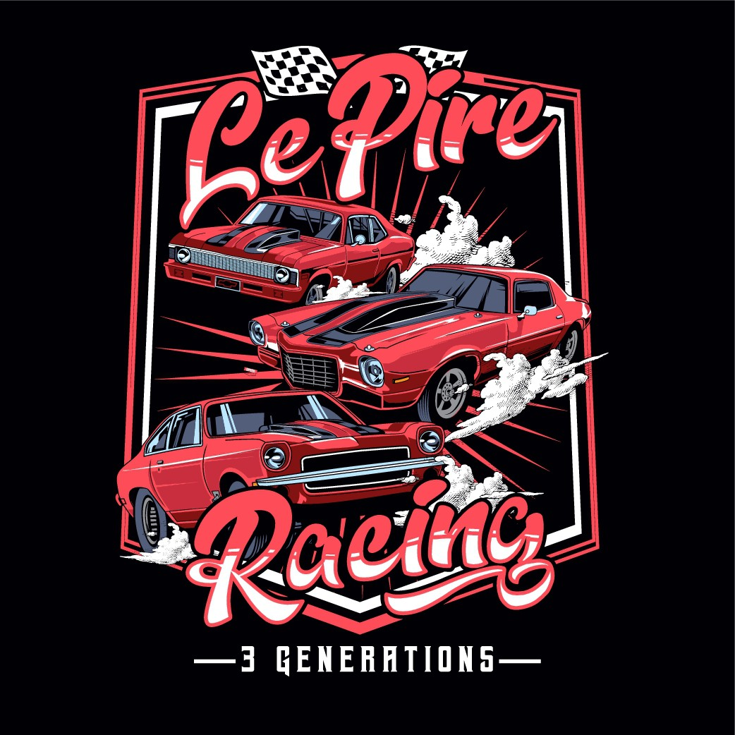 Drag Racing Team Tshirt Design