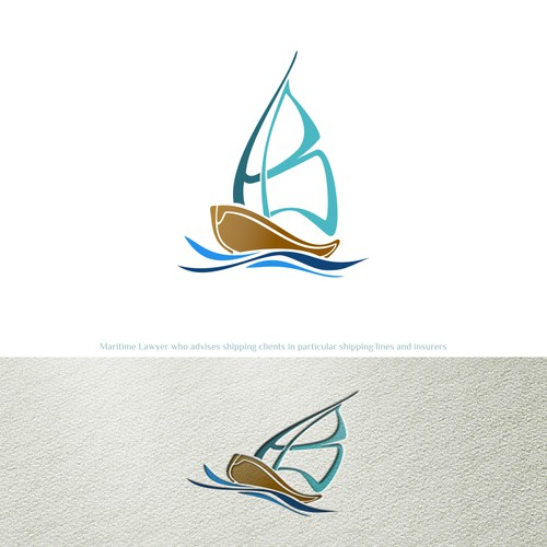 Logo concept for HB maritime lawyer
