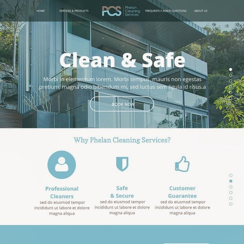 Create the perfect website for my cleaning company.