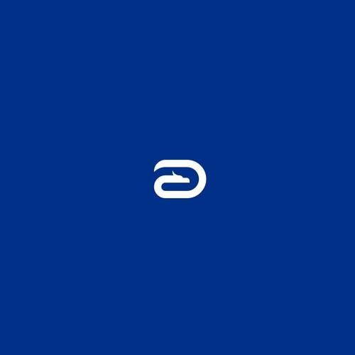 Simple dragon logo