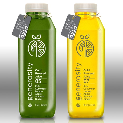 Cold Pressed Juice Logo & Label Design