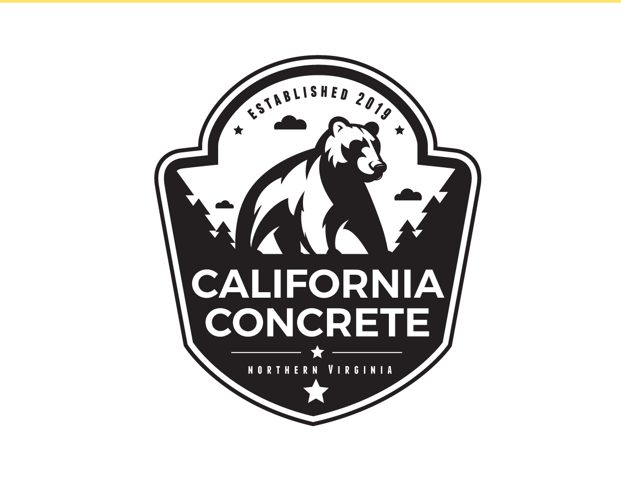 Create a concrete company logo for a young new contractor
