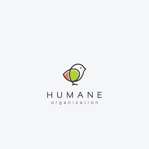 Minimal logo design for animal welfare organization.
