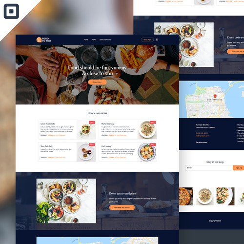 FoodToYou - Food Online Ordering Web Design