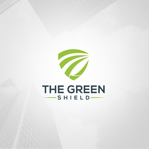 Sleek Green Shield Brand Identity