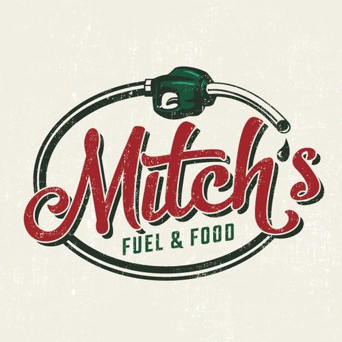 Mitch's Fuel & Food Logo Design