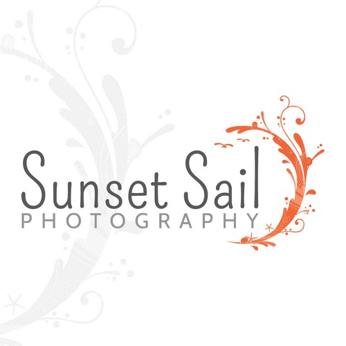 Create a unique and classy logo for a the next big photographer at Sunset Sail Photography