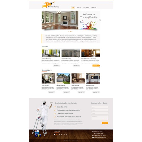 Design the perfect Painting Website