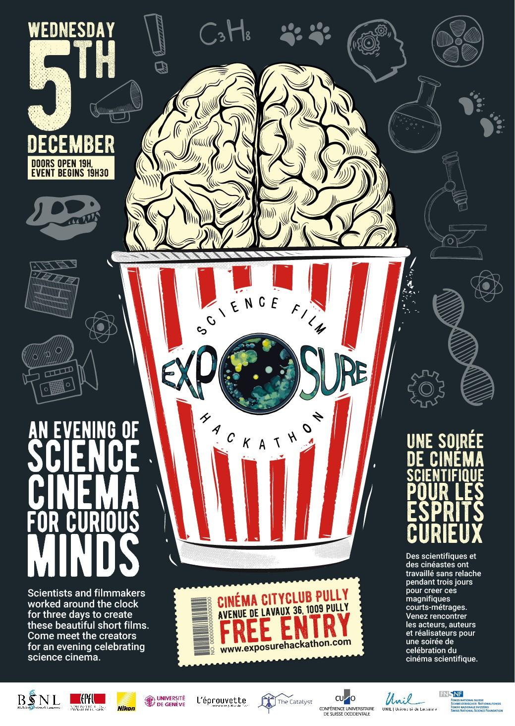 Swiss SCIENCE x FILMMAKING cinema event POSTER
