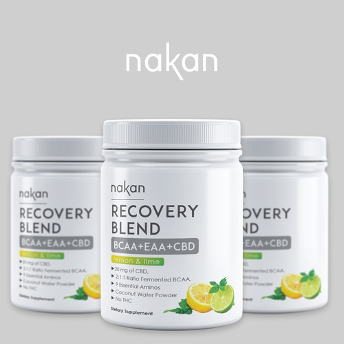 Label design for recovery blend-BCAA+EAA+CBD