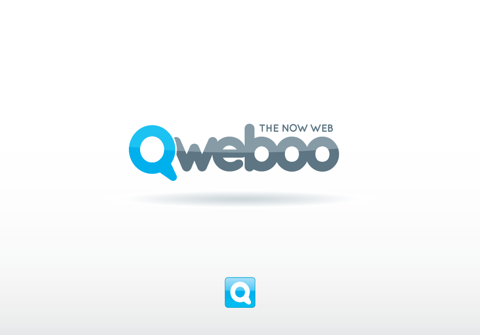 "Create the next logo for QWEBOO ""THE NOW WEB"""