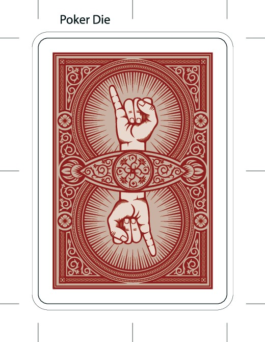 Playing Card Back Design - Pinky Count Magic