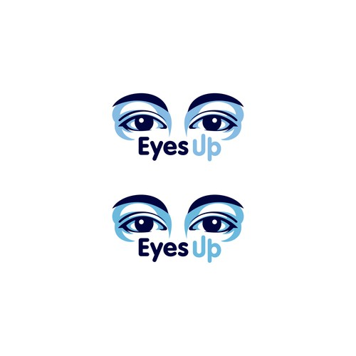 Create a striking logo for Eyes Up to encourage people to look up from their phones