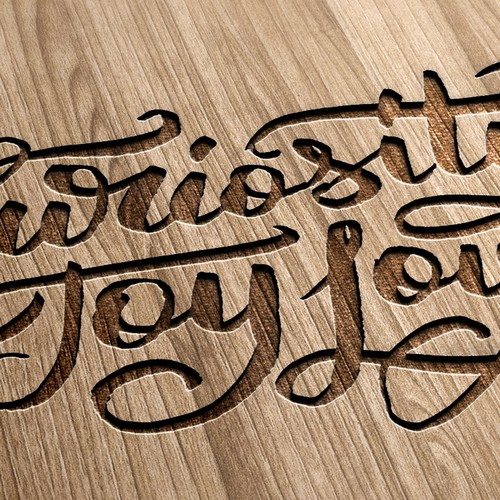 Custom calligraphy for tattoo or wood etching