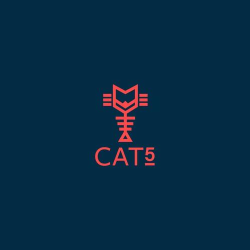 Cat 5 Logo Design