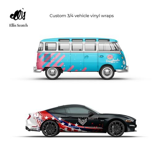 Custom Vehicle Vinyl Wraps