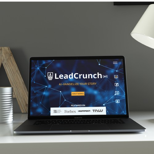Leadcrunch Homepage design