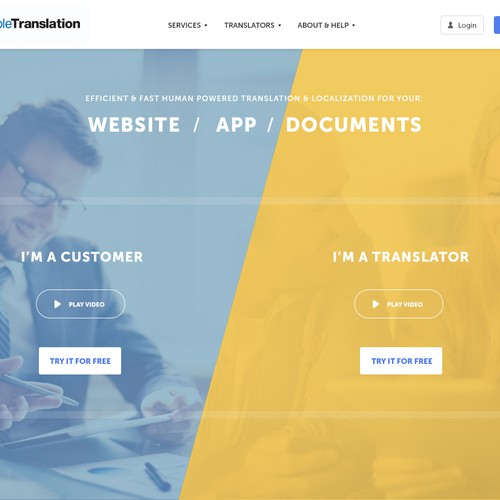 Homepage for SimpleTranslation