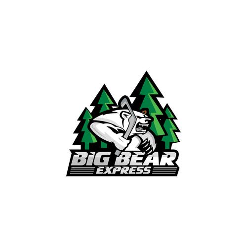 Bear sports logo hockey team