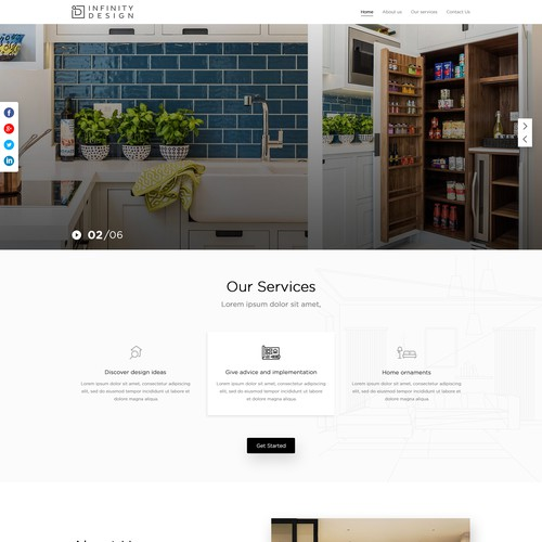 Infinity Landing page