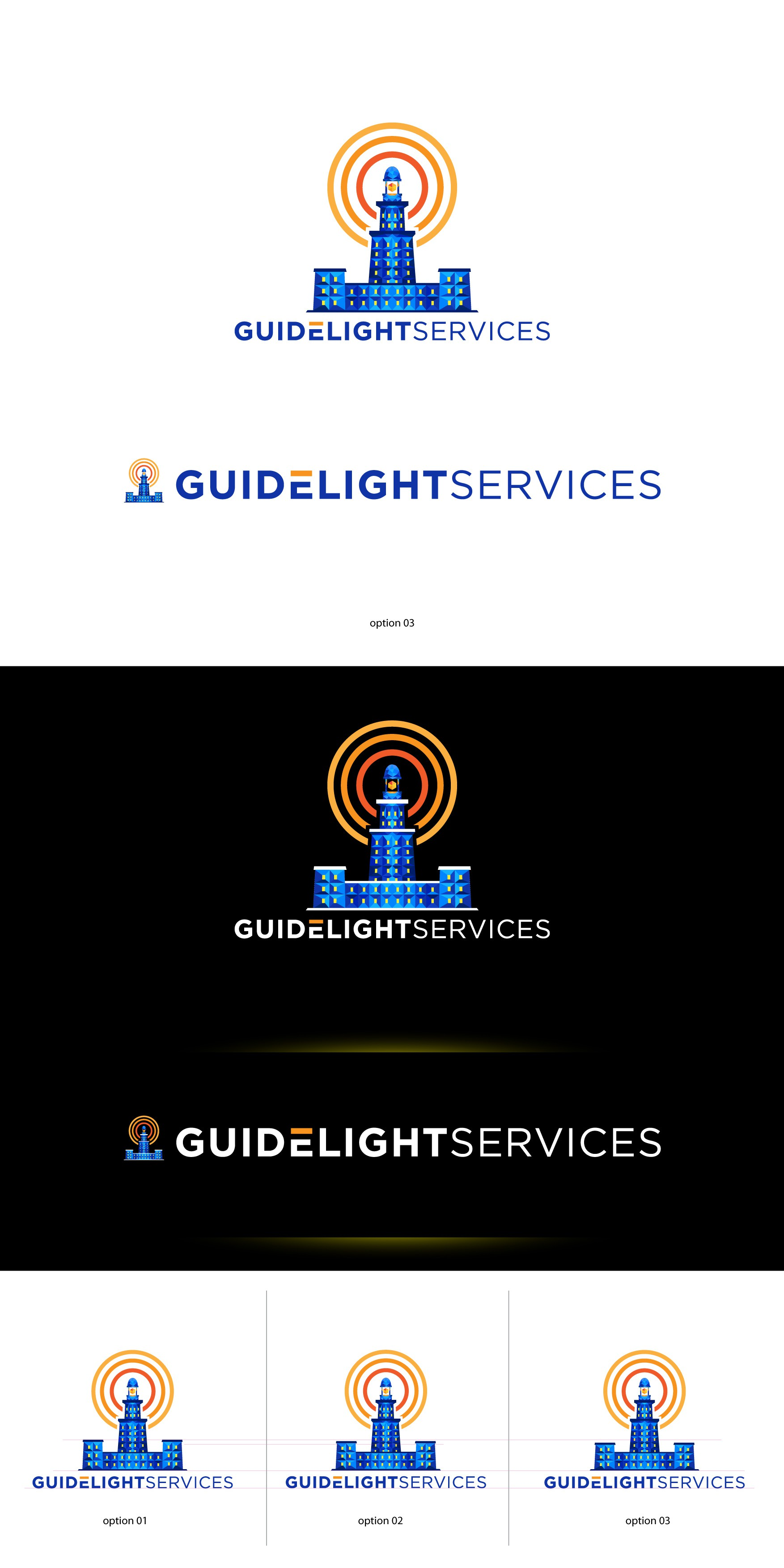 "Polygonal logo for my personal business ""Guidelight"""