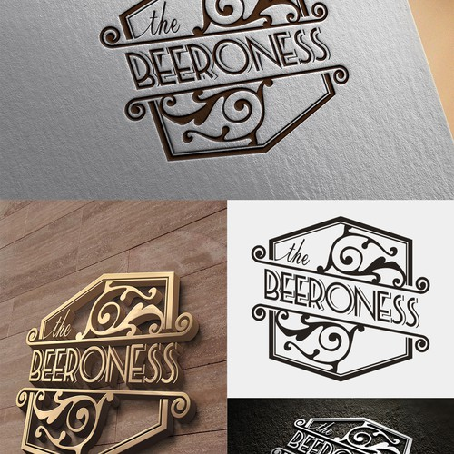 Create a captivating logo for The Beeroness (www.thebeeroness.com)