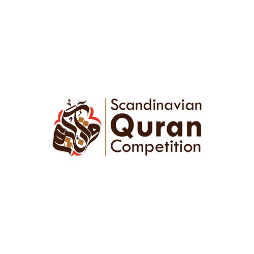 A logo for Scandinavian Quran Competition