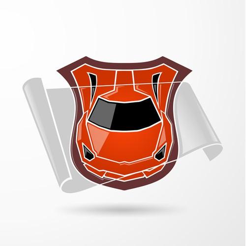 Logo for a car protection film company